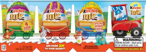 Kinder Joy Treat + Easter Toys Candy Multi-Pack 4 Count Perspective: front