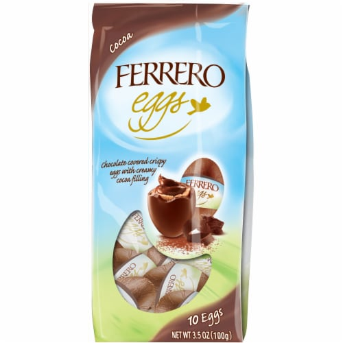 Ferrero Chocolate Covered Cocoa Filled Crispy Eggs 10 Count Perspective: front