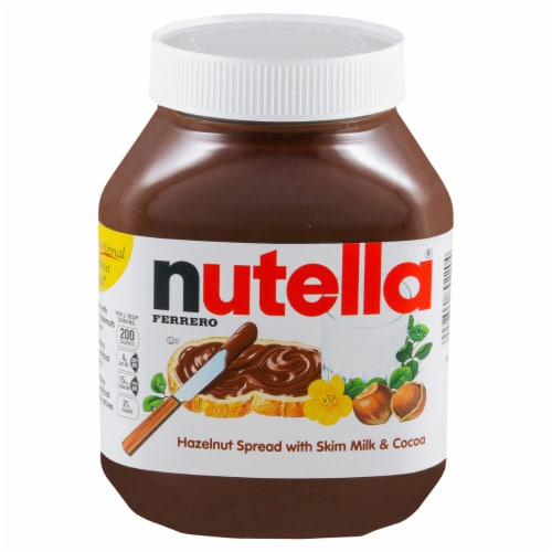 Nutella Hazelnut Spread with Cocoa Perspective: front