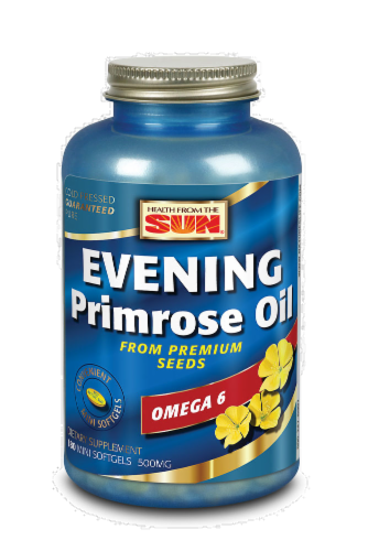 Health From the Sun Evening Primrose Oil Omega-6 500 mg Mini Softgels Perspective: front
