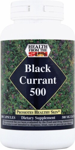 Health From the Sun Black Currant 500 Capsules 500mg Perspective: front