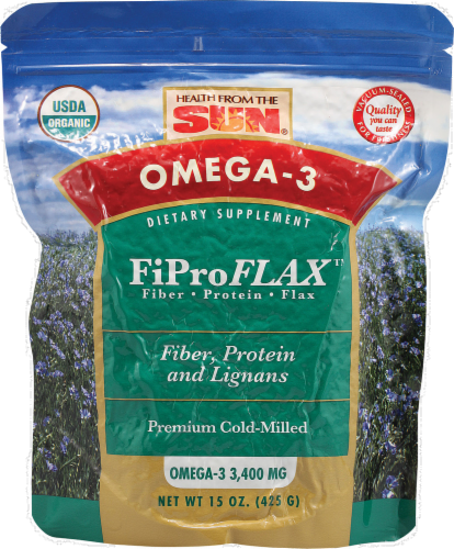 Health from the Sun Omega-3 FiPro Flax 400 mg Dietary Supplement Perspective: front