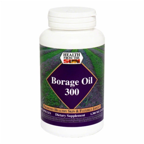 Health From The Sun Borage Oil 300 mg Capsules Perspective: front