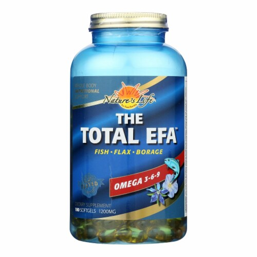 Health From the Sun Omega 3-6-9 The Total EFA 1200 mg Softgels Perspective: front