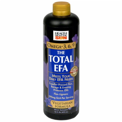 Health From the Sun Omega 3-6-9 The Total EFA GLA 290 mg Vegetarian Formula Liquid Perspective: front