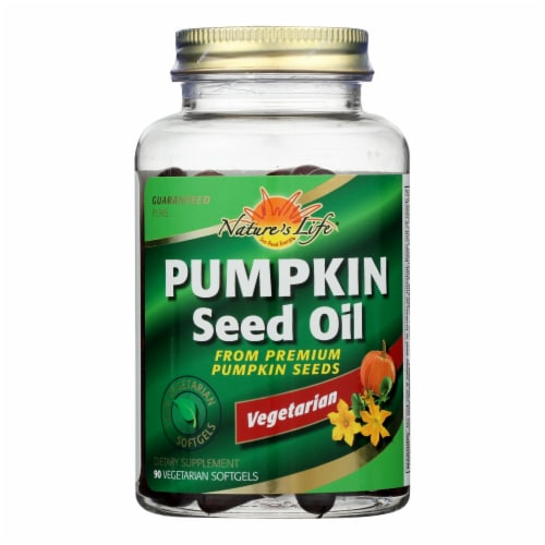Health From The Sun Organic Pumpkin Seed Oil Vegetarian Softgels Perspective: front