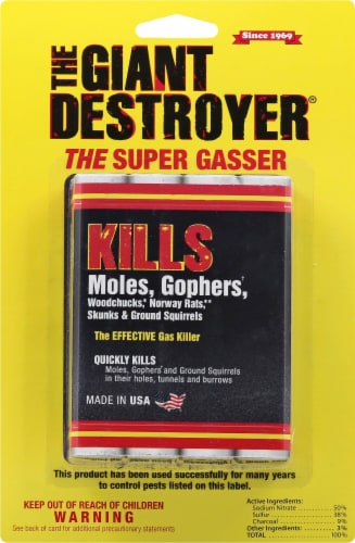The Giant Destroyer Gopher Gasser Perspective: front