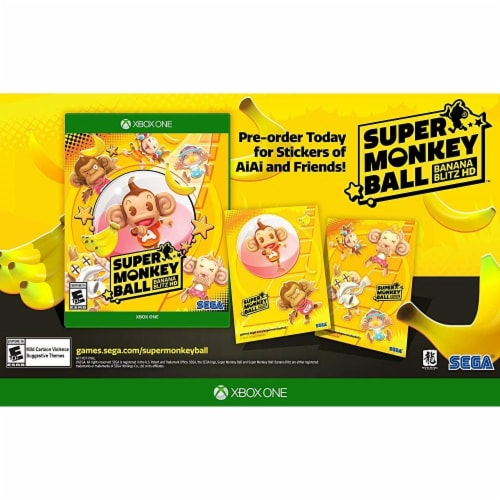 Sega SB640946 Super Monkey Ball Banana Blitz HD for Xone Video Game Perspective: front