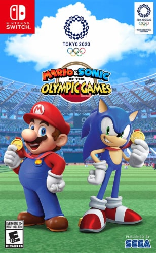 Mario & Sonic at the Olympic Games: Tokyo 2020 (Nintendo Switch) Perspective: front
