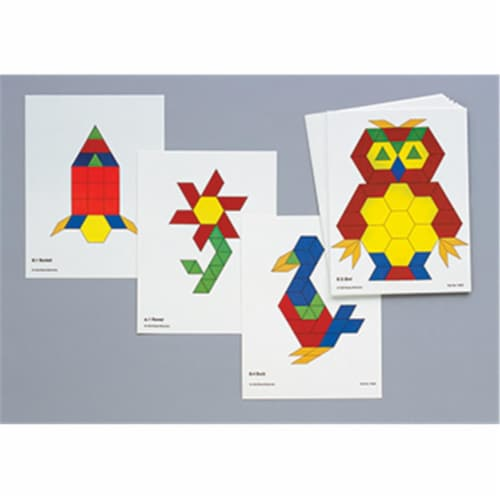 Learning Advantage Ctu8837 Pattern Block Activity Cards Perspective: front
