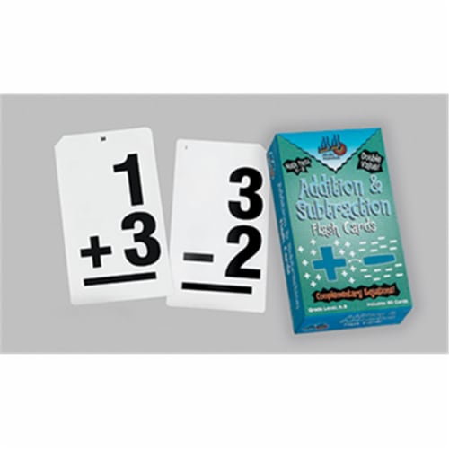 Learning Advantage Ctu8662 Double Value Vertical Flash Cards Perspective: front