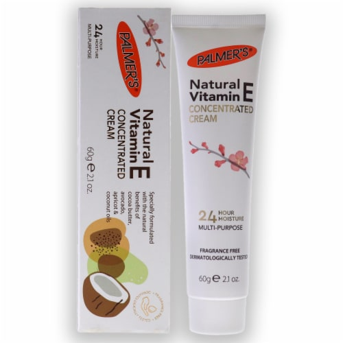 Palmers Natural Vitamin E Concentrated Cream 2.1 oz Perspective: front