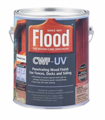 Flood  CWF-UV  Matte  Redwood  Water-Based  Wood Finish  1 gal. - Case Of: 4; Perspective: front