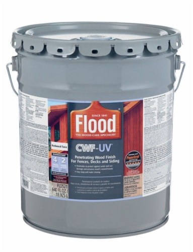 Flood  CWF-UV  Matte  Redwood  Water-Based  Wood Finish  5 gal. - Case Of: 1; Perspective: front
