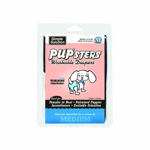 Simple Solution Pup'Sters Medium Washable Dog Diapers Perspective: front