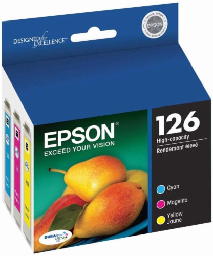 Epson DURABrite Ultra Ink T126520 Ink Cartridge - Cyan/Magenta/Yellow Perspective: front