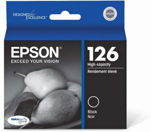 Epson DURABrite® Ultra Ink T126120 Ink Cartridge - Black Perspective: front