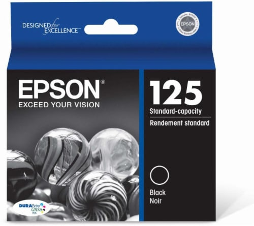 Epson DURABrite Ultra Ink T125120 Ink Cartridge - Black Perspective: front