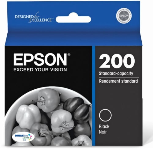 Epson DURABrite Ultra Ink T200120 Ink Cartridge - Black Perspective: front