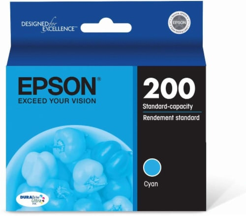 Epson DURABright Ultra Ink T200220 Ink Cartridge - Cyan Perspective: front