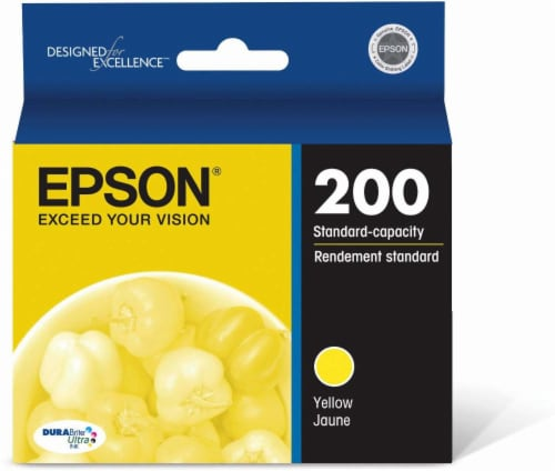 Epson DURABright Ultra Ink T200420 Ink Cartridge - Yellow Perspective: front