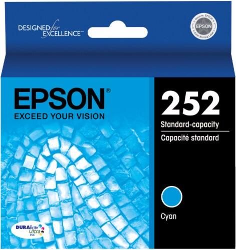 Epson DURABrite® Ultra 252 Ink Cartridge - Cyan Perspective: front