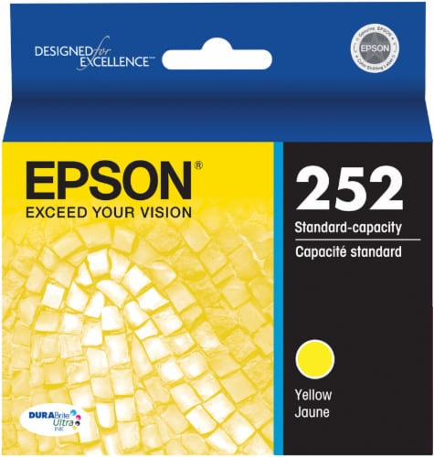 Epson DURABrite® Ultra 252 Ink Cartridge - Yellow Perspective: front