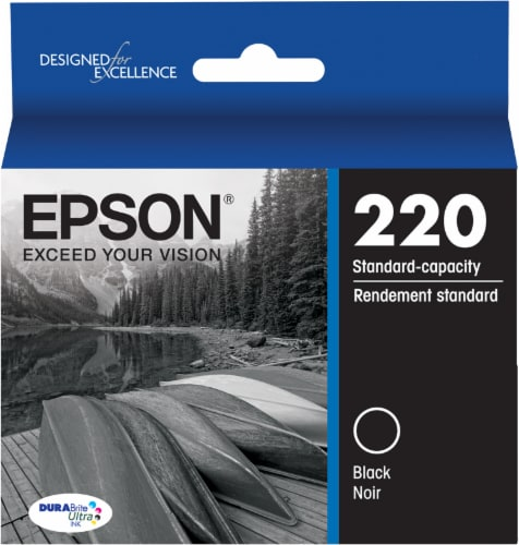 Epson DURABrite Ultra 220 Ink Cartridges - Black Perspective: front