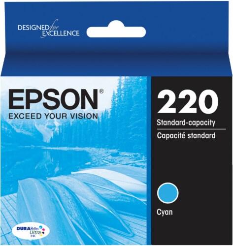 Epson DURABrite® Ultra 220 Ink Cartridge - Cyan Perspective: front