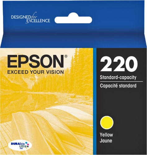 Epson DURABrite® Ultra 220 Ink Cartridge - Yellow Perspective: front