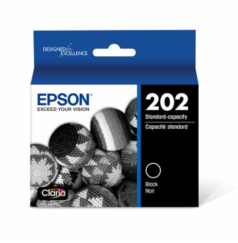 Epson 202 Standard Capacity Ink Cartridge - Black Perspective: front