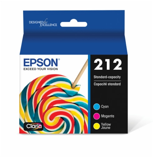 Epson Standard 212 Ink Cartridge - Cyan Magenta Yellow Perspective: front