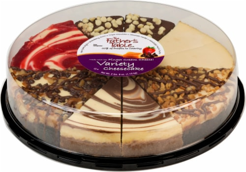 Father's Table Gourmet Variety Sampler Cheesecake Perspective: front