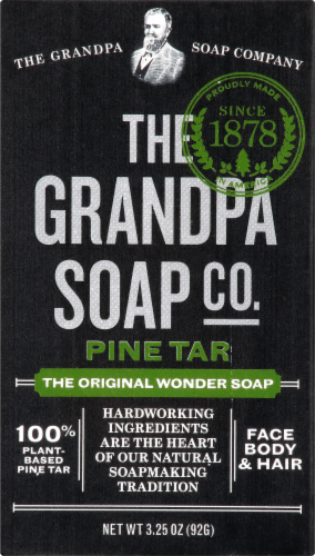 The Grandpa's Soap Co. Pine Tar Soap Perspective: front