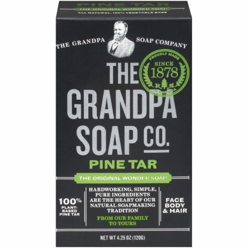 The Grandpa Soap Co Original Pine Tar Wonder Soap Perspective: front