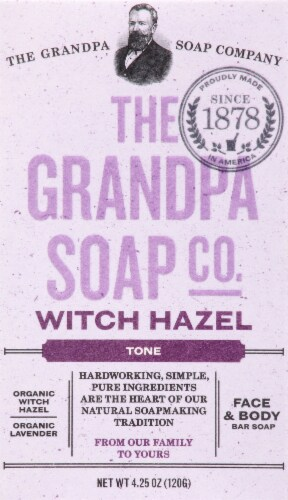 Grandpa's Witch Hazel Bar Soap Perspective: front