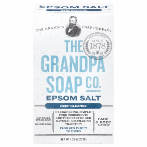 Grandpa's Epsom Salt Bar Soap Perspective: front