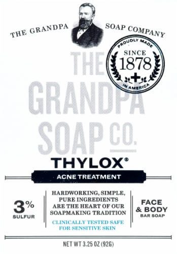 Grandpa's Thylox Acne Treatment Bar Soap Perspective: front