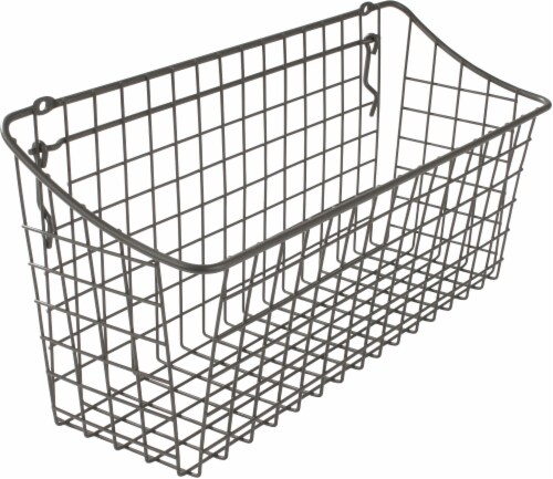 Spectrum Pegboard and Wall Mount Basket - Gray Perspective: front