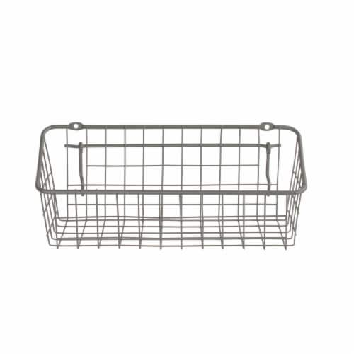 Spectrum Pegboard Basket and Hook Station - Industrial Gray Perspective: front