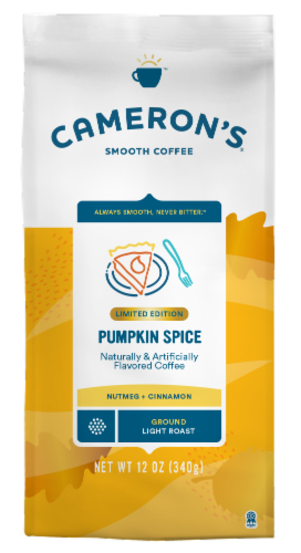Cameron's Pumpkin Spice Light Roast Ground Coffee Perspective: front