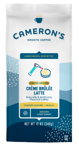 Cameron's Creme Brulee Latte Light Roast Ground Coffee Perspective: front