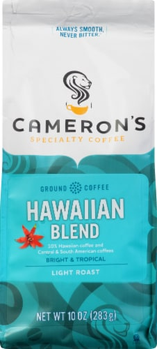 Cameron's Hawaiian Blend Light Roast Ground Coffee Perspective: front