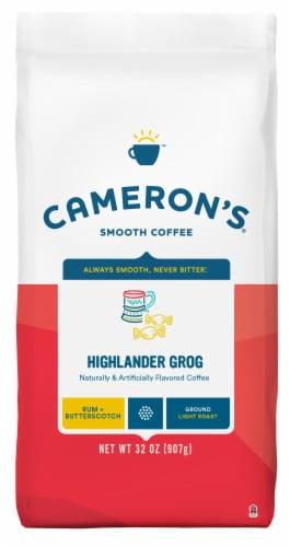 Cameron's Highlander Grog Rum & Butterscotch Light Roast Ground Coffee Perspective: front