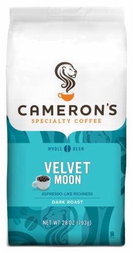 Cameron's Velvet Moon Espresso-Like Richness Dark Roast Whole Bean Coffee Perspective: front