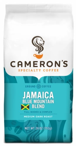 Cameron's Jamaica Blue Mountain Blend Medium-Dark Roast Ground Coffee Perspective: front