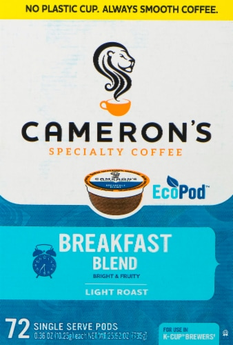 Cameron's Breakfast Blend Single Serve Coffee Pods 72 Count Perspective: front
