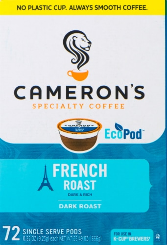 Cameron's French Roast Coffee Single Serve EcoPods Perspective: front