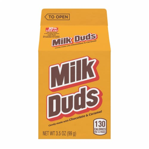 Milk Duds Candy Perspective: front