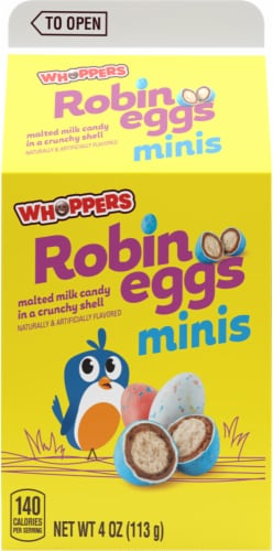 Whoppers Easter Mini Robin Eggs Candy Perspective: front